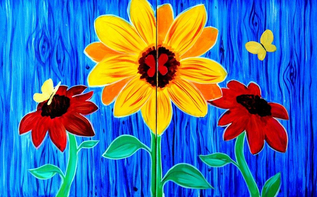 Date Night: Sunflowers & Butterflies