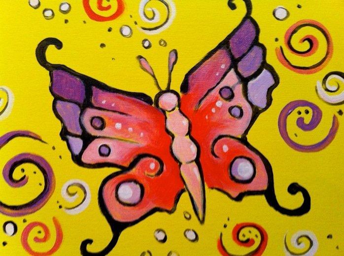 Kids Butterfly Swirls