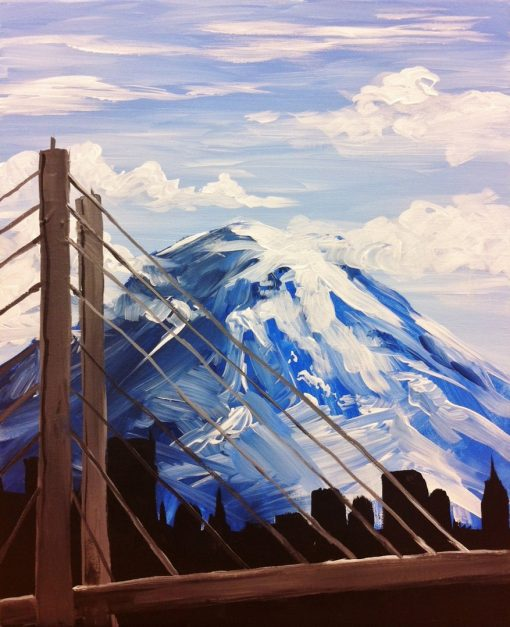 Tacoma Skyline Painting