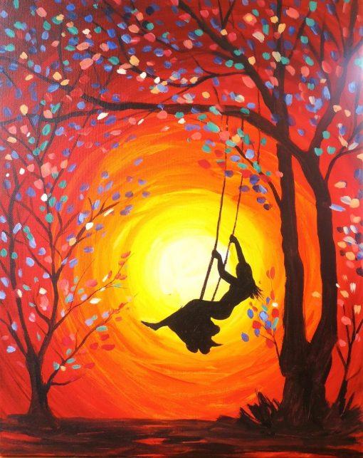 Spring Swing Painting