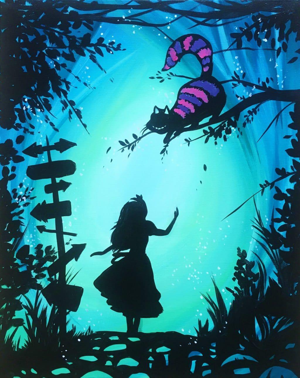alice in wonderland princess paint uncorked canvas. Black Bedroom Furniture Sets. Home Design Ideas