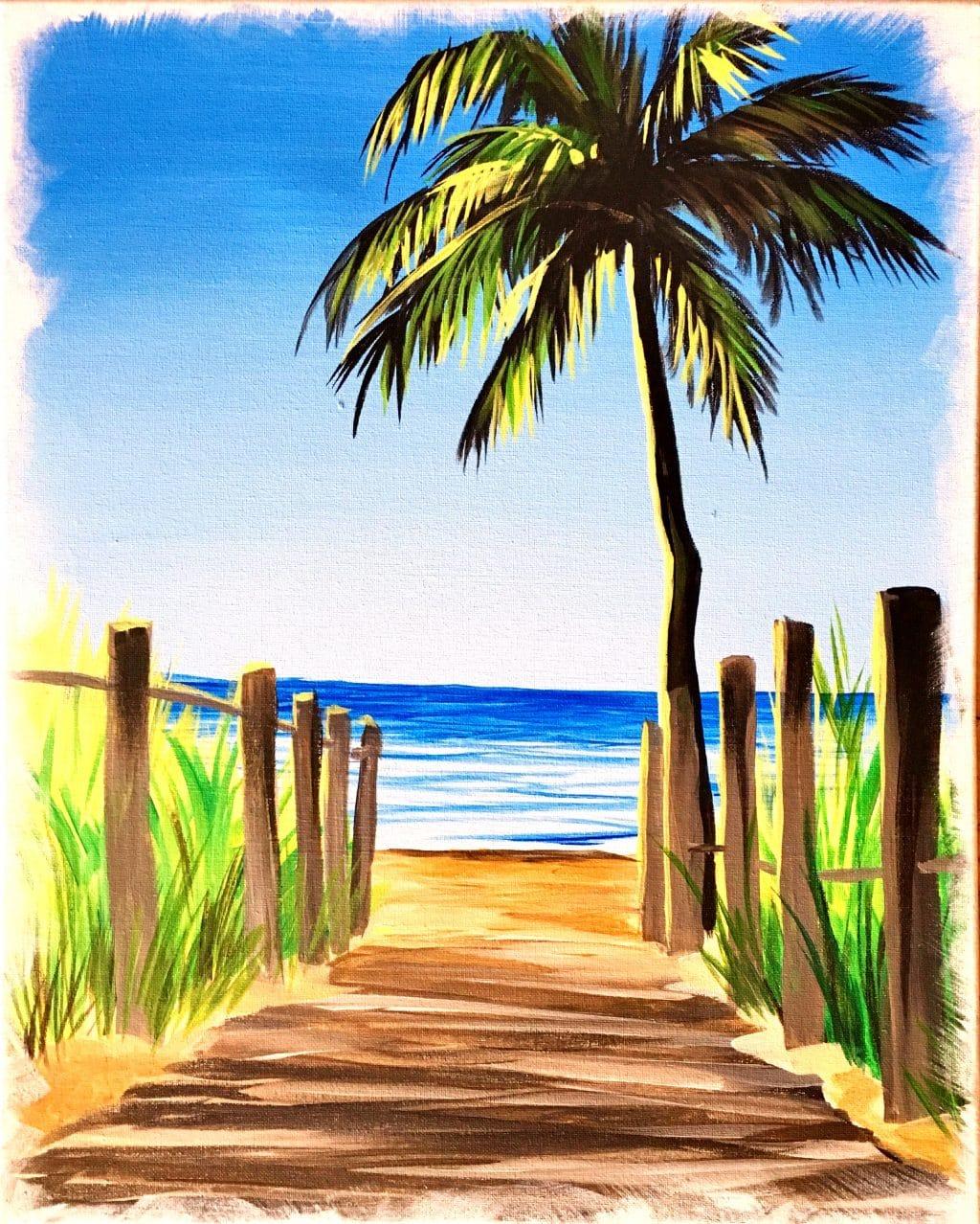 Boardwalk Palm Tree