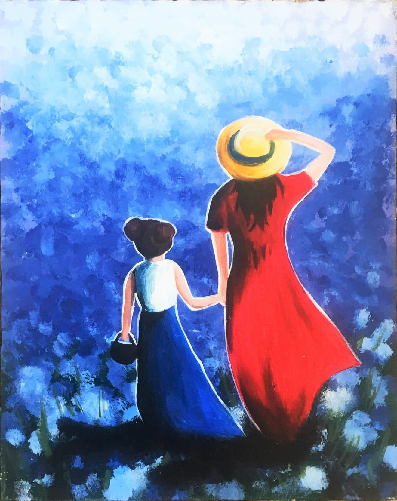 A Walk in Blue Fields