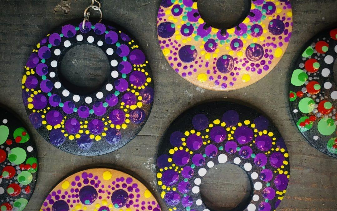 DIY Wooden Mandala Earrings @ Anthem!