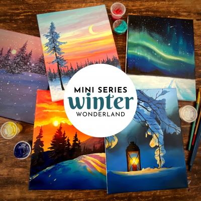 The Winter Wonderland 5 Painting Mini Series