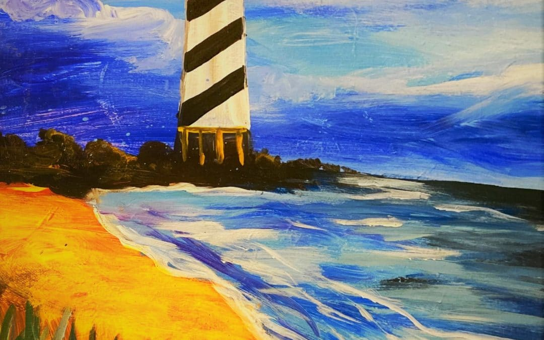 VIRTUAL: Dreamy Lighthouse (Kit Available)